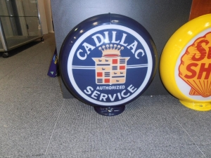 Cadillac Service Station Double Sided Globe