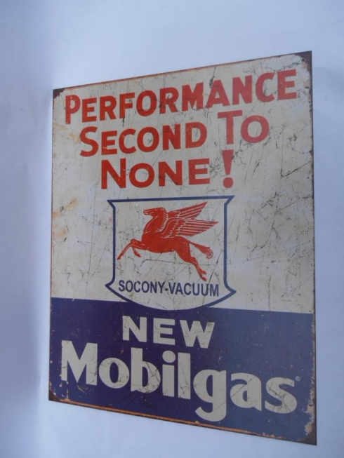 Mobil Gas Petrol Metal Tin Sign