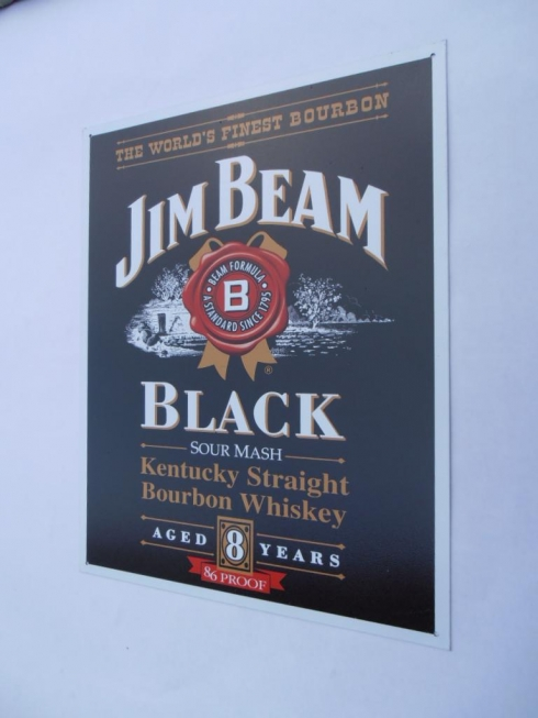Jim Beam Black Advertising Sign